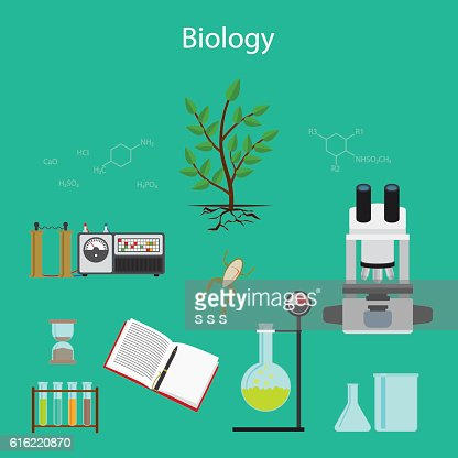 Biology research cartoon illustration : Vektorgrafik