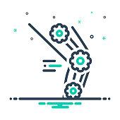 Icon for biomechanics,  physiolo, exercise, athlete