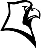 Bird cardinal head sign. Design element for sport team  emblem, badge, mascot. Vector illustration