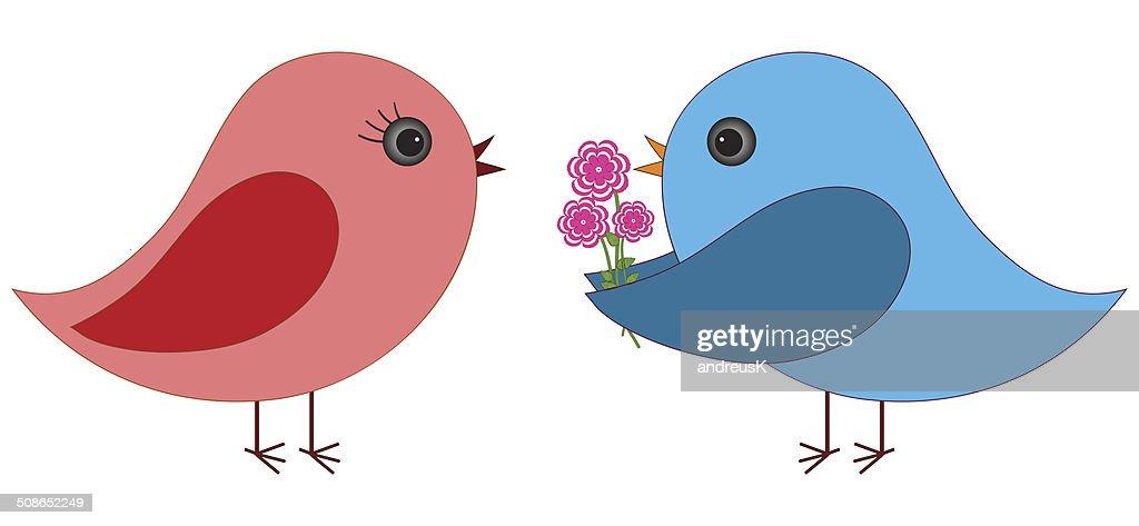 birds in love : Vector Art