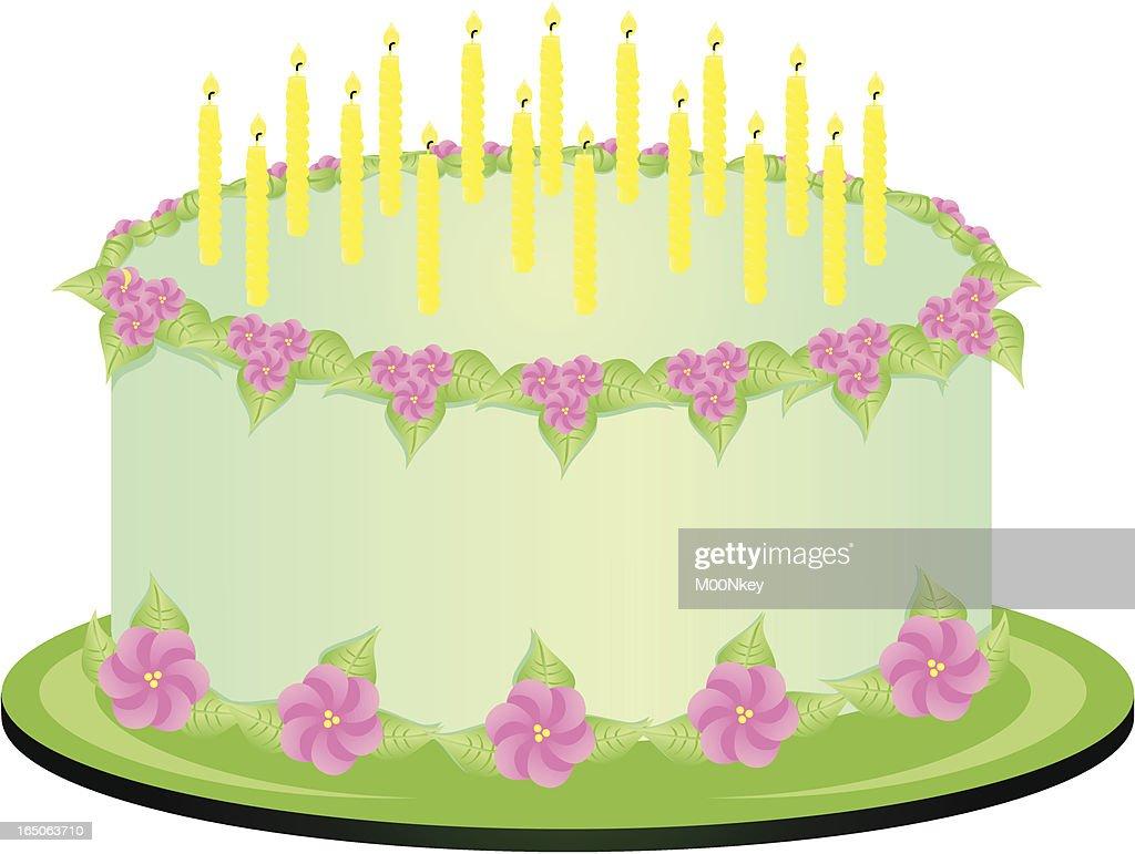 Birthday Cake Cartoon : Vector Art