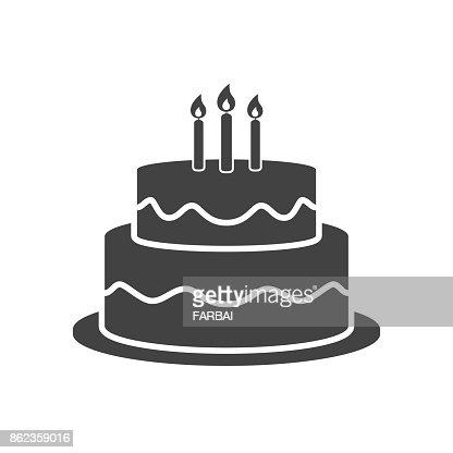 Geburtstag Kuchen Symbol Vektor Vektorgrafik Thinkstock