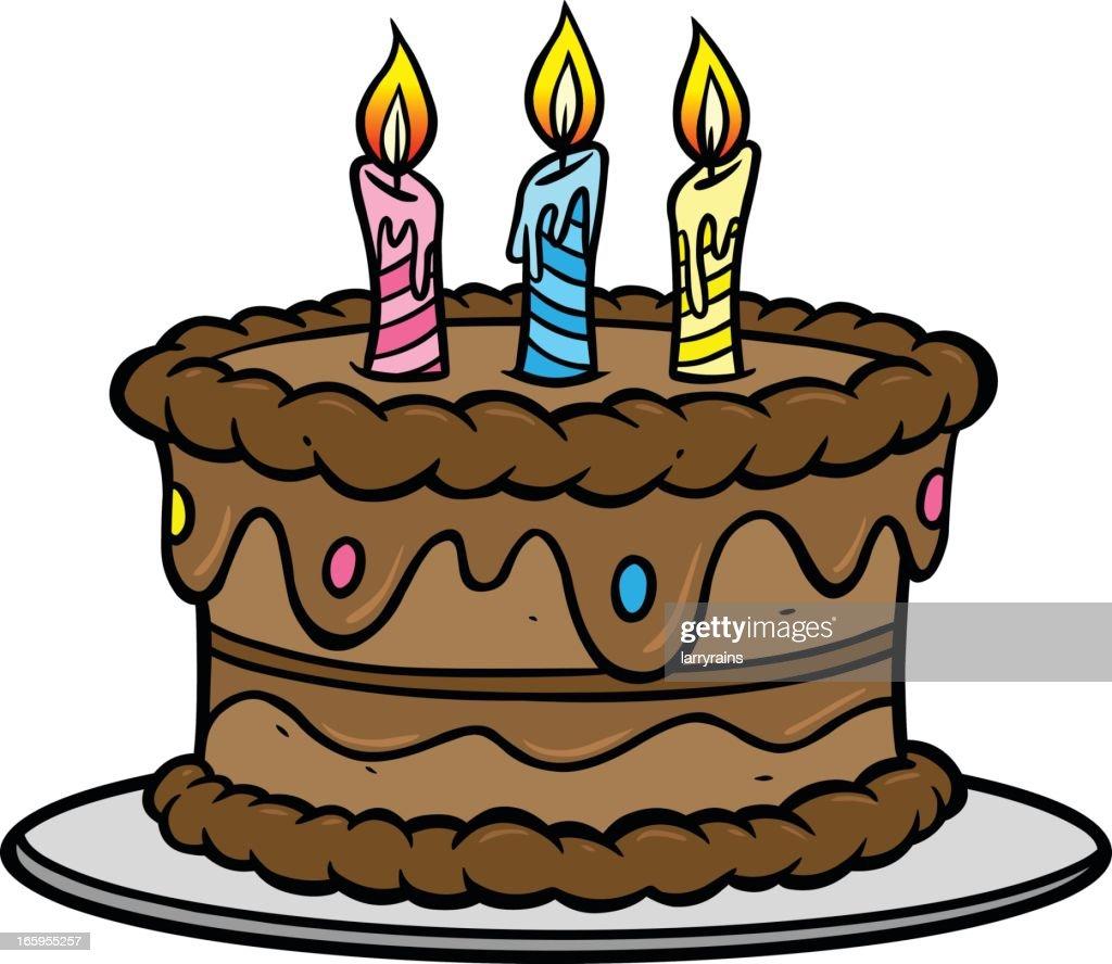 Birthday Cake : Vector Art