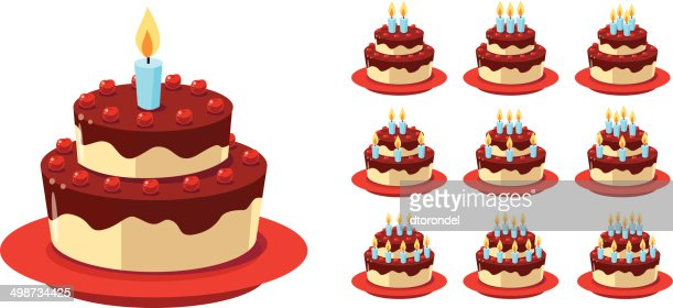 gateau danniversaire vector art | thinkstock