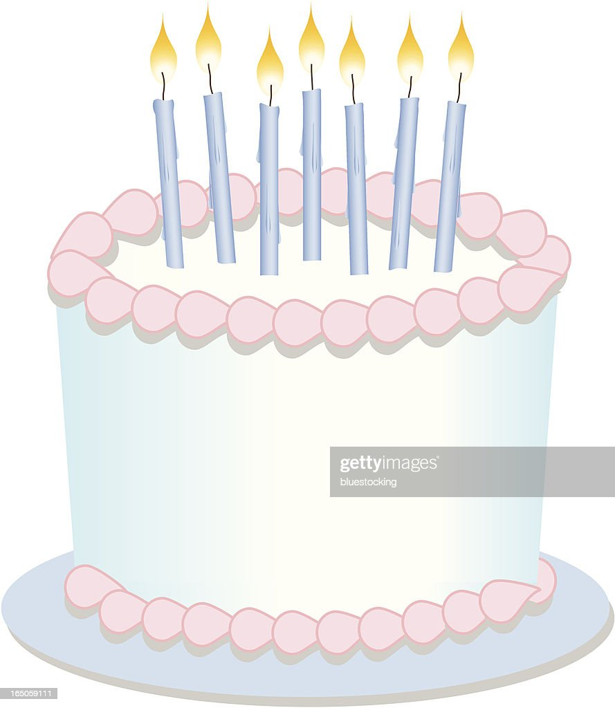 Birthday Cake with Candles : Vector Art