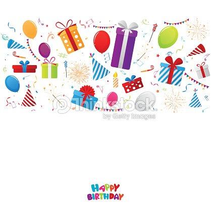 Geburtstag Hintergrund Mit Parteielemente Vektorgrafik Thinkstock