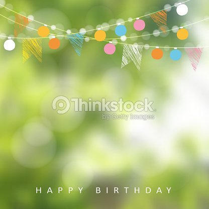 Birthday garden party or Brazilian june party, vector illustration