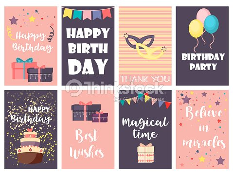 Birthday greeting cards vector design happy party invitation birthday greeting cards vector design happy party invitation celebration gift anniversary background arte vetorial stopboris Image collections