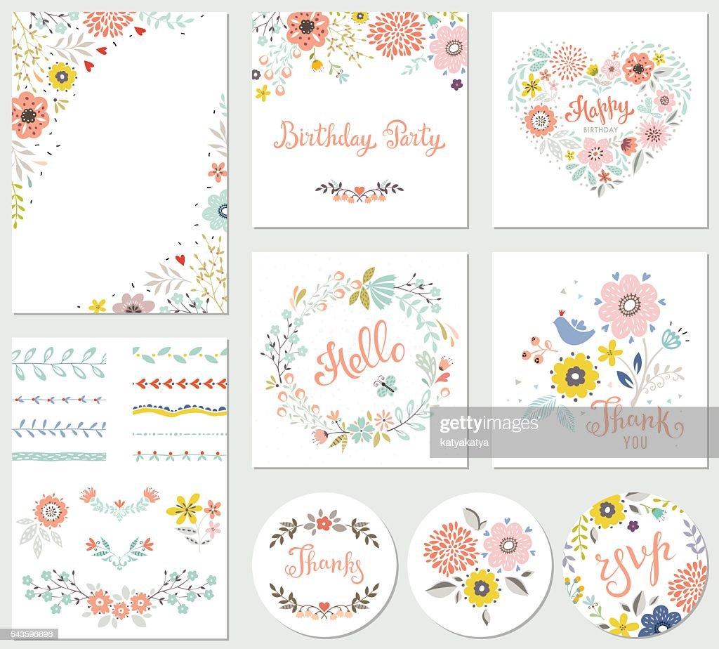 Birthday Parti Floral Set