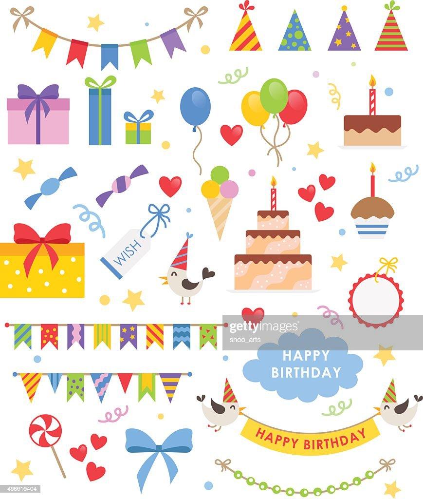 Birthday Party Vector Set Vector Art Thinkstock