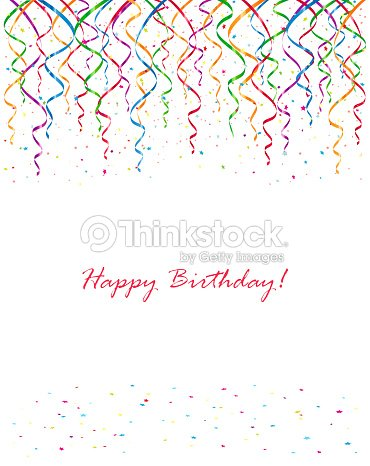 birthday streamers and confetti vector art thinkstock