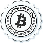 Bitcoin in cryptography we trust Illustration