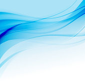 Abstract vector background with blue smooth color wave. Blue wavy lines