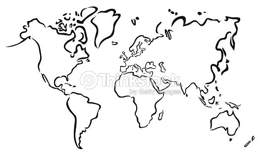Abstract Map Of The World.Black Abstract Map Of The World Vector Art Thinkstock