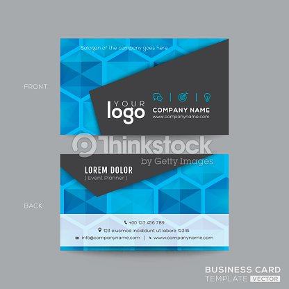 black and blue modern business card design ベクトルアート thinkstock
