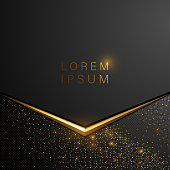 Black and gold background in vector
