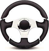 Car steering wheel illustration
