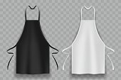 black and white apron in vector
