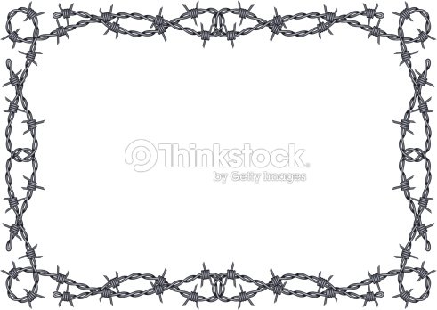Black And White Barbed Wire Border Framed Background Vector Vector ...