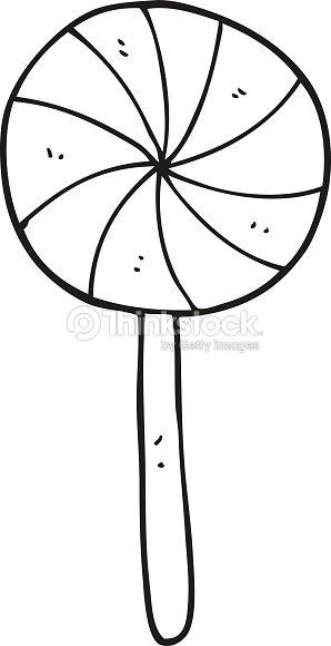 black and white cartoon candy lollipop vector art thinkstock