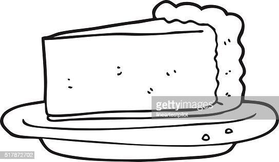 gâteau au fromage de dessin animé noir et blanc clipart vectoriel