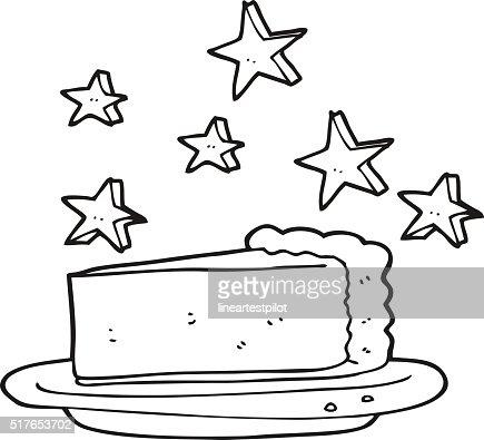 noir et blanc dessin animé avec gâteau au chocolat clipart