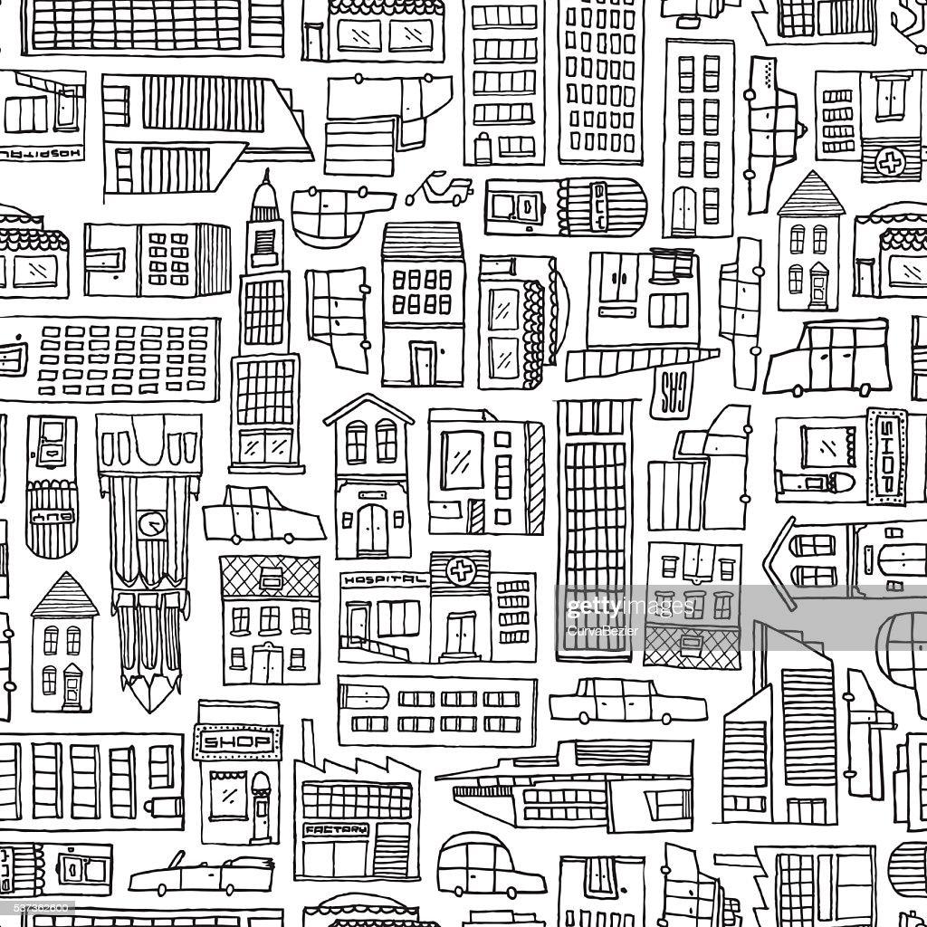 Colección Dibujos De Ciudades Para Colorear E Imprimir