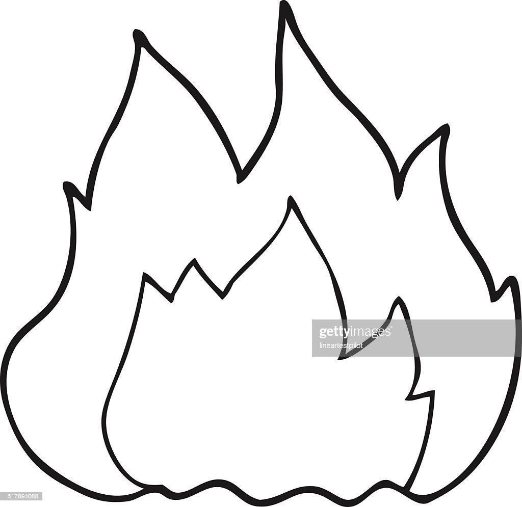 black and white cartoon fire vector art thinkstock rh thinkstockphotos co uk fireworks clipart black and white fireworks clipart black and white
