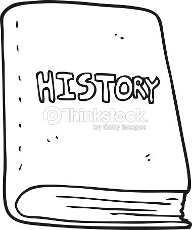 Black And White Cartoon History Book Stock Vector Thinkstock