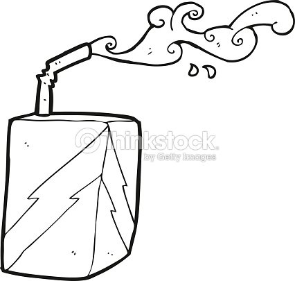 Black And White Cartoon Juice Box Vector Art | Thinkstock
