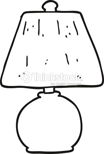 lamp clipart black and white - photo #19