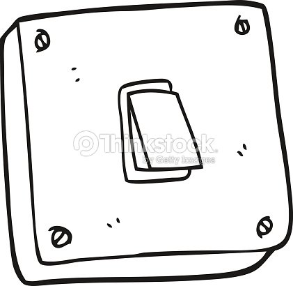 Black and white cartoon light switch vector art thinkstock black and white cartoon light switch vector art sciox Gallery