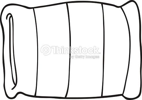 Black And White Cartoon Pillow Vector Art