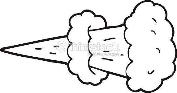 Schwarz Und Weiß Cartoon Rauch Explosion Vektorgrafik