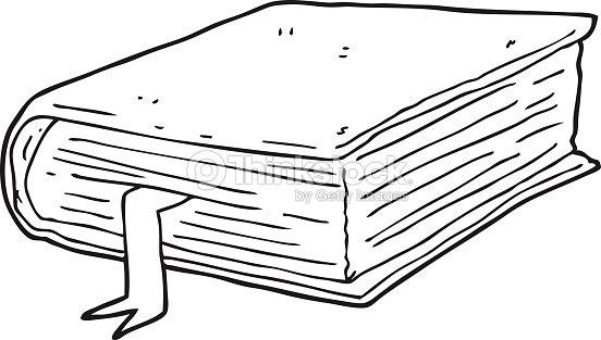 black and white cartoon thick book vector art thinkstock