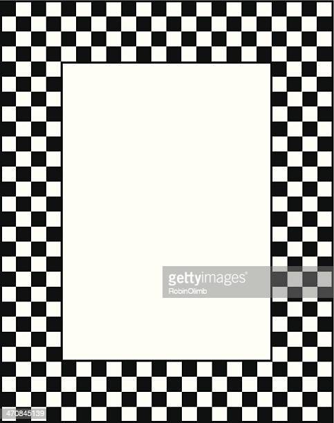 Black And White Checkered Frame