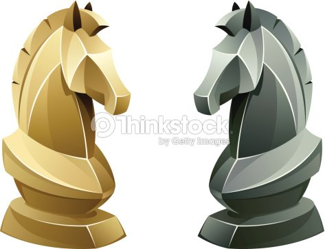 Black And White Chess Knight Vector Art | Thinkstock