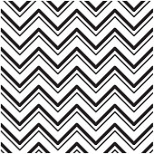 Black And White Chevrons Seamless Pattern Background Vector Image