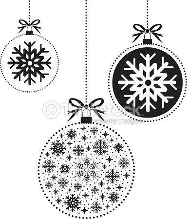 black and white christmas ball ball stock vector thinkstock. Black Bedroom Furniture Sets. Home Design Ideas