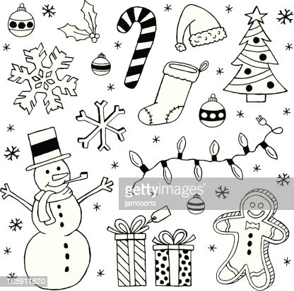 Black And White Christmas Clip Art Images Vector Art ...