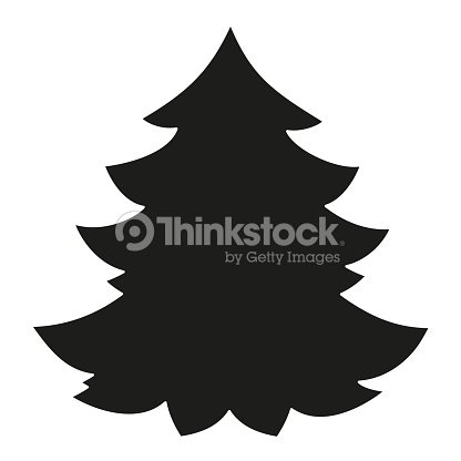 schwarz wei weihnachtsbaumsilhouette vektorgrafik thinkstock. Black Bedroom Furniture Sets. Home Design Ideas