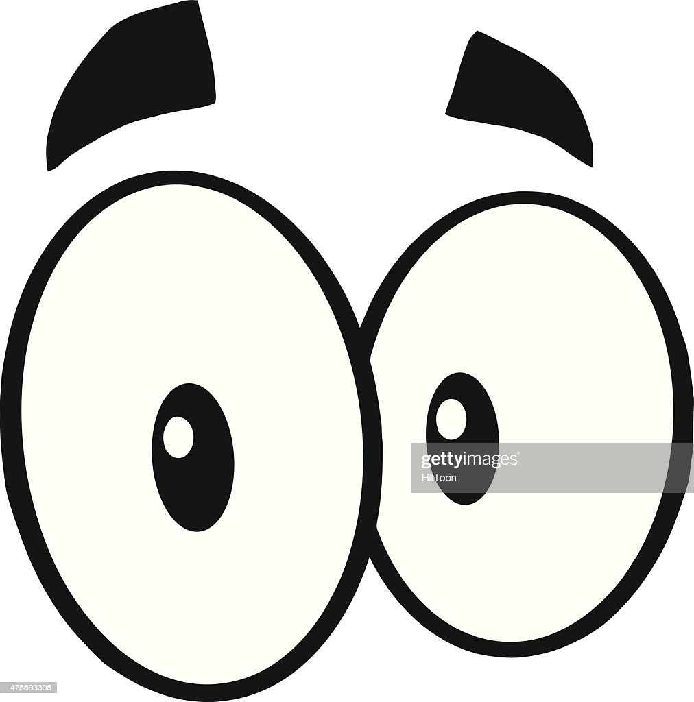 black and white cute cartoon eyes vector art thinkstock rh thinkstockphotos com eye vector free download eye vector free download
