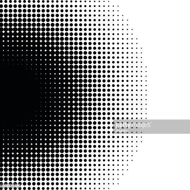 black and white dots pattern background