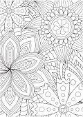 Vector elements for design. Good for art therapy, meditation and design of wrapping and textile.