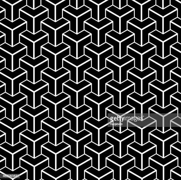 Schwarze und weiße abstrakt Geometrie Form Hintergrund