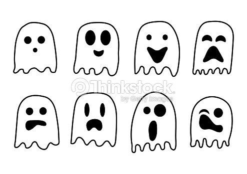 Fantasmas De Blanco Y Negro De 2018 Para La Celebración De Halloween ...
