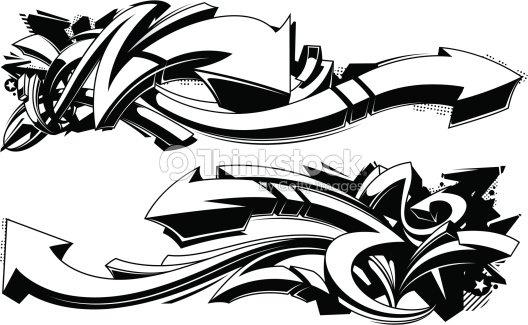 Sfondi graffiti bianco e nero arte vettoriale thinkstock for Immagini graffiti hd