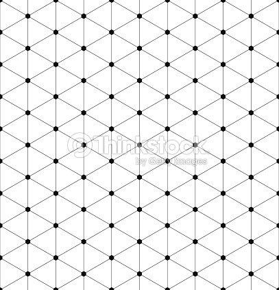 Schwarze Und Weiße Sechseckige Raster Muster Mit Schmalen Linien ...