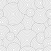 Black And White Seamless Pattern For Coloring Book In Doodle Style Swirls Ringlets