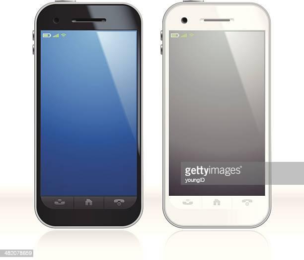 Schwarz und Weiß Smartphones